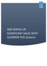 CS QSR Serves Up Significant Sales With QUORiON EN